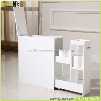 Madera sala de descanso gabinete para papel higi nico y for Gabinete de almacenamiento de bano de madera