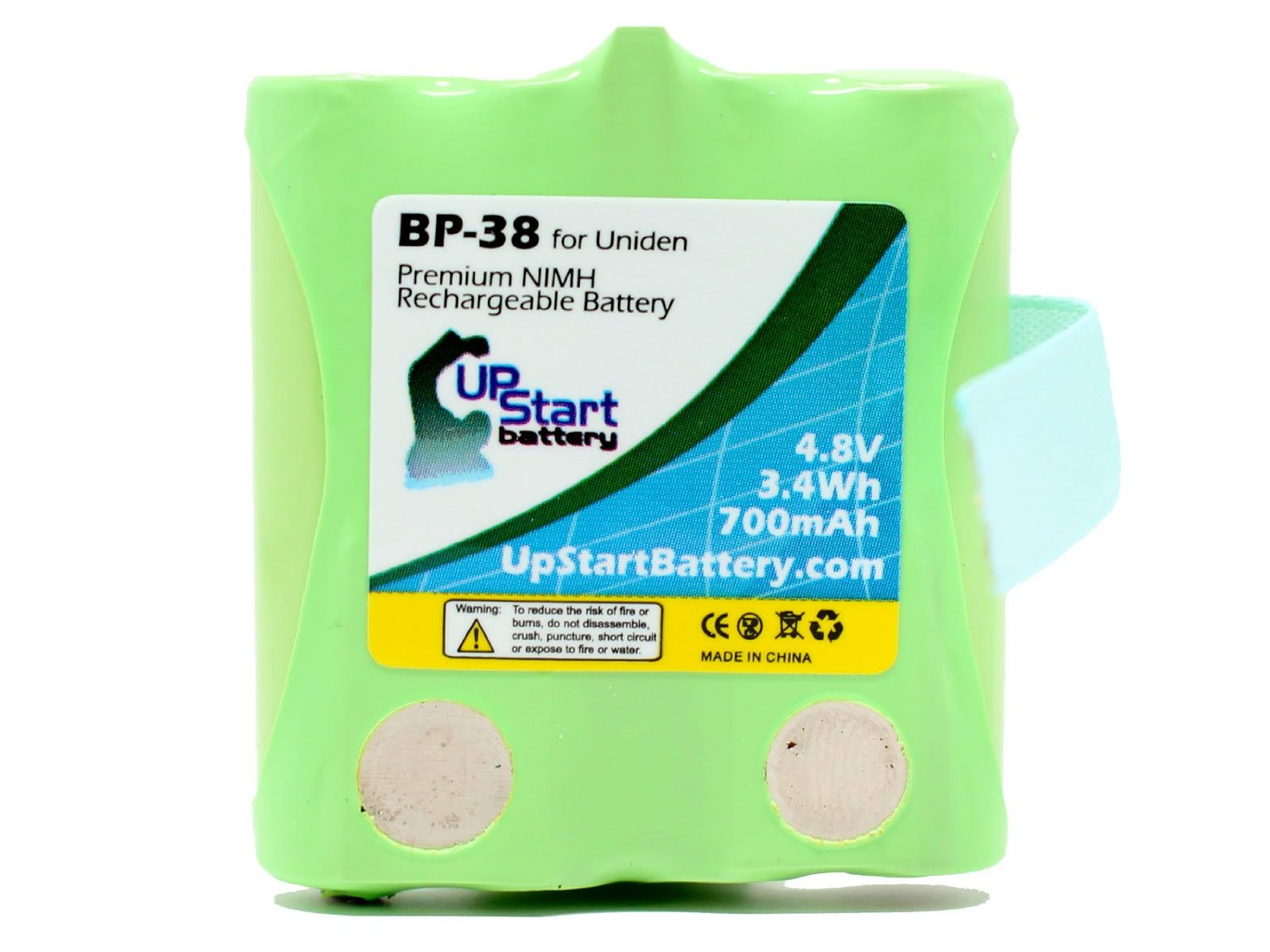 BP-38 Battery for Uniden BP-40, GMRS/FRS Two-Way Radios (700mAh, 4.8V, NI-MH) - Compatible with GMR1838, GMRS, GMR1038-2, GMR, GMR648-2CK, GMR1048-2CK, GMR1038, GMR3699, GMR3689, GMR2889-2CK, GMR1588-2CK, GMR1558-2CK, GMR1038-2CK, GMR2238, GMR885, GMR855-2CK, GMR638, GMR635, BP-38, BP40, BP38,