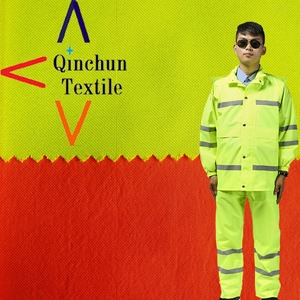 300D fluorescence color 100%polyester Oxford fabric used for Policy protection suit