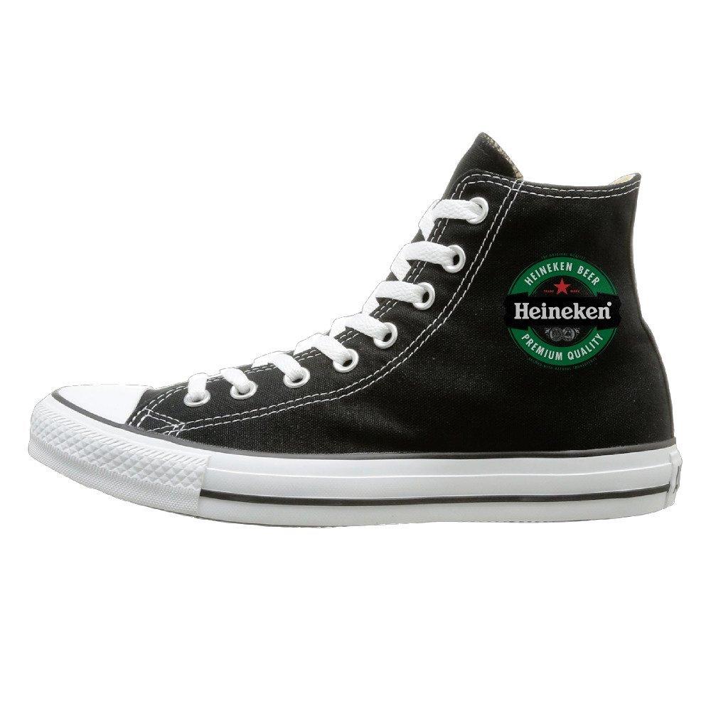 NFCGH Heineken Canvas Shoes Sneakers Slip On Shoes Black