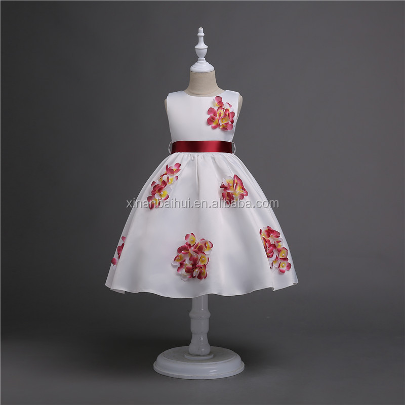 9d24ba6b57e Western style wedding flower girl dress Girl s birthday party dress for 10  years baby girl vest