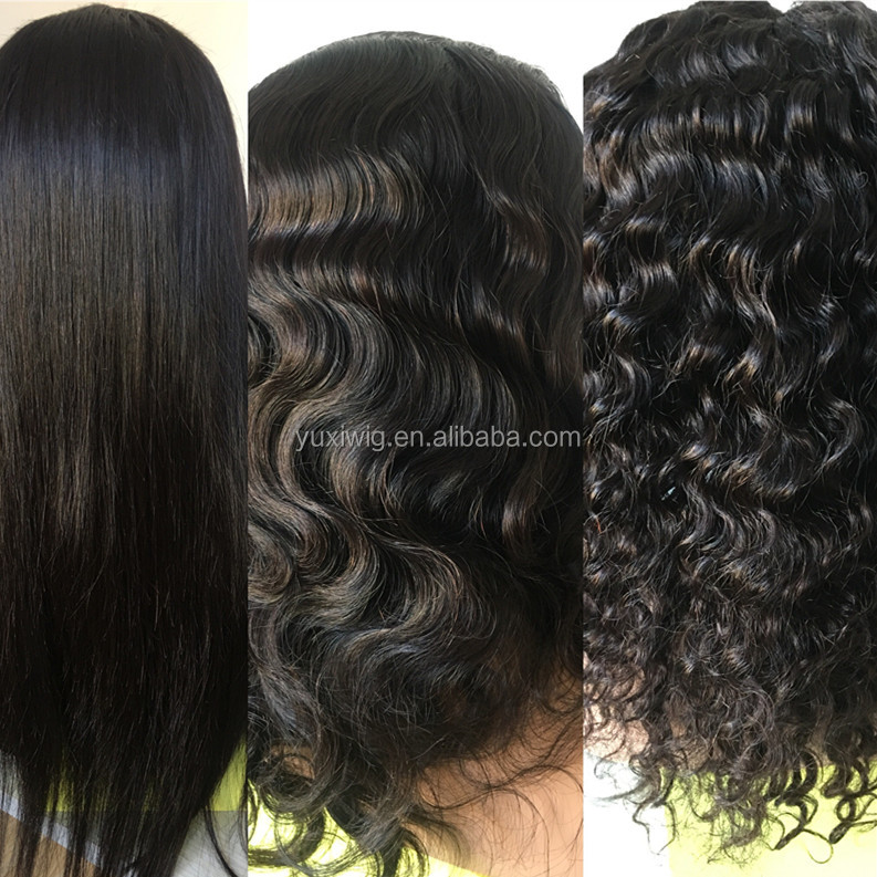 straight  Indian human hair full lace wig
