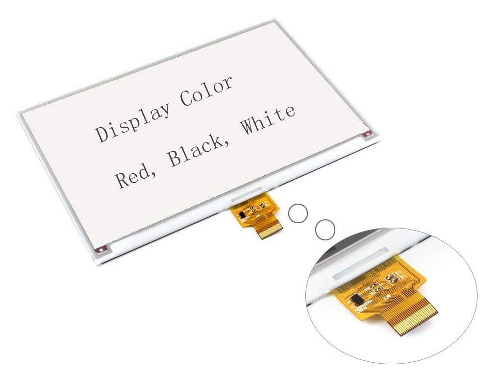 CQRobot Support Red, Black and White, 7.5inch 640x384 E-Ink Raw Display, with Embedded Controller, SPI Interface, Without PCB, It is an Ideal Choice for Shelf Label, Industrial Instrument.