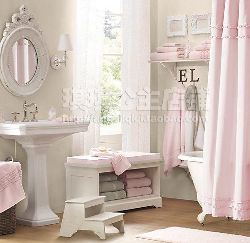 Bathroom Remodel Toddler Girl Bedroom Ideas: S&V HOT SALE! European Style Elegant Shower Curtain Pure