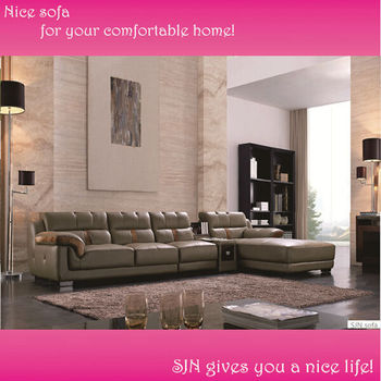 modern germany living room leather sofa L051, View germany living ...