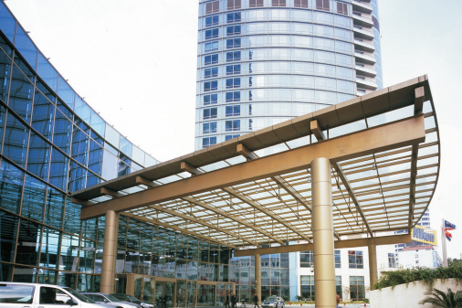 Yekalon Outdoor Decorative Tempered Glass Entrance Canopy