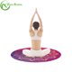 ZHENSHENG Natural Rubber Round Organic Yoga Mat with Carry Bag