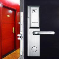 Zinc alloy small panel lever handle lock smart door RFID hotel lock