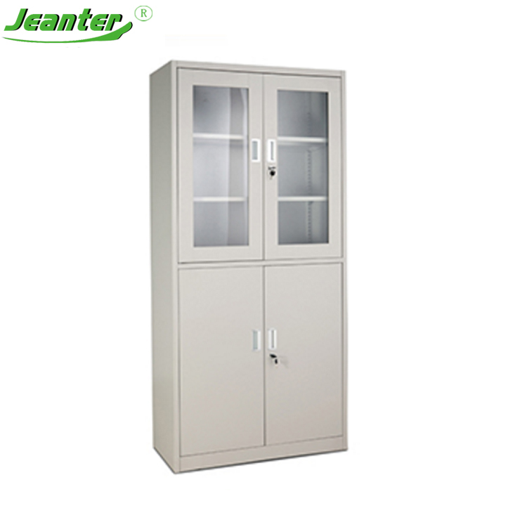 Half Glass Door Low Price Small Glass Display Cabinet Design For
