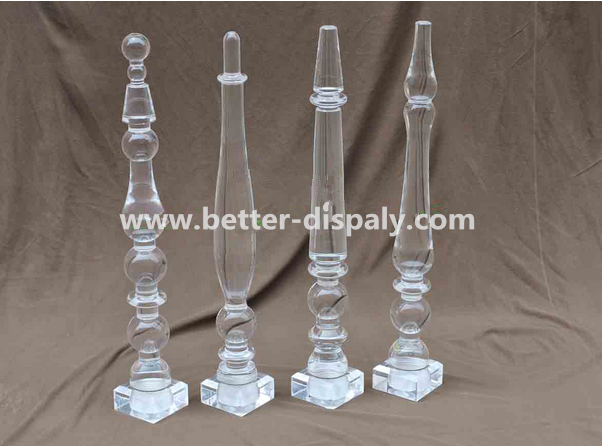custom clear plexiglass table legs