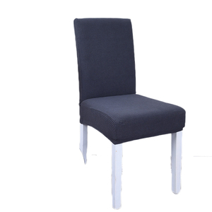 600343 Guangzhou Decorative Polyester Quilted Chair Covers Removable Waterproof Grey Dining Chair Stretch Slipcover Pad Case