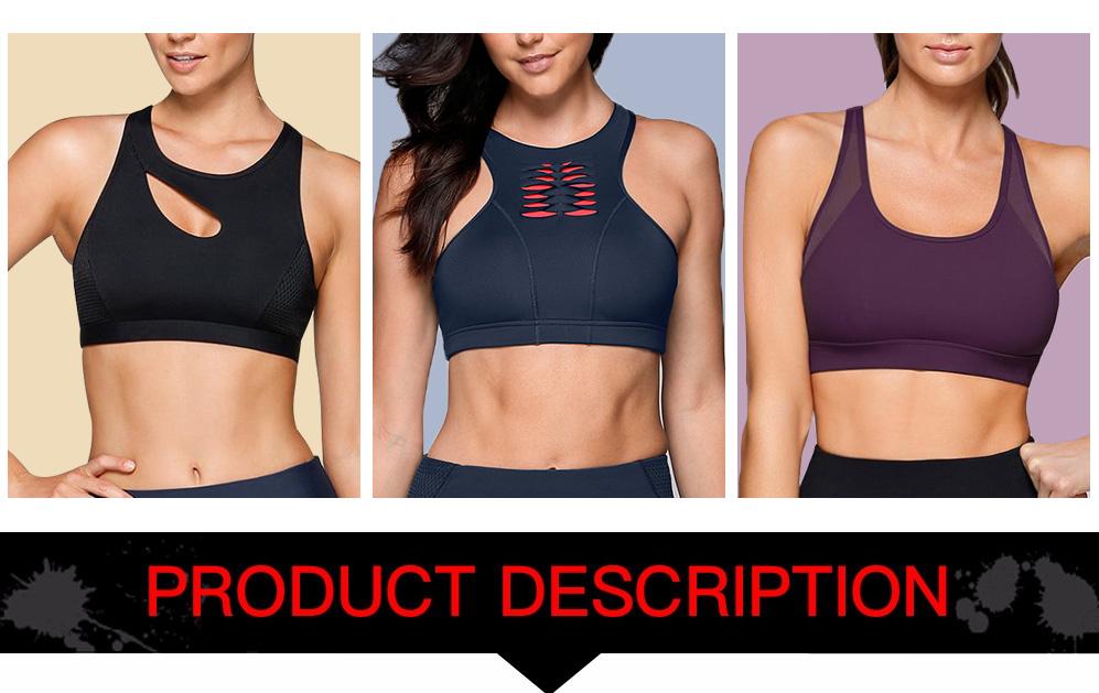 0610b37514d52 Yoga Bra Sportswear Camo Print Push Up Running Sports Bra Top Padded  Training Workout Active Jogger