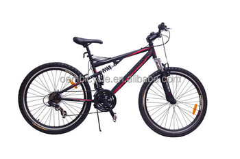 26 Inch Hi Ten Steel Mountain Bike With Front And Rear Suspension