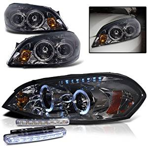 2007 Chevy Impala Dual Halo Headlights Projector Pair 8 Led Fog Per Lamps