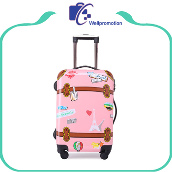 Print Kids Trolley Hard Case Luggage Plastic Abs Suitcase - Buy ...