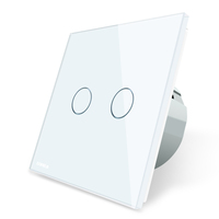 LIVOLO VL-C702S-11 Fashion Electrical Touch Switches glass touch 2 Gang 2 Way touch wall light switch