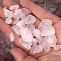 Wholesale high quality natural rose quartz stone bulk crystals tumbled stones for healing