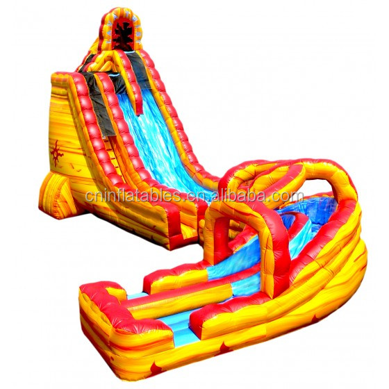 Inflatable Water Slide/27' LAVA TWIST WITH LANDING