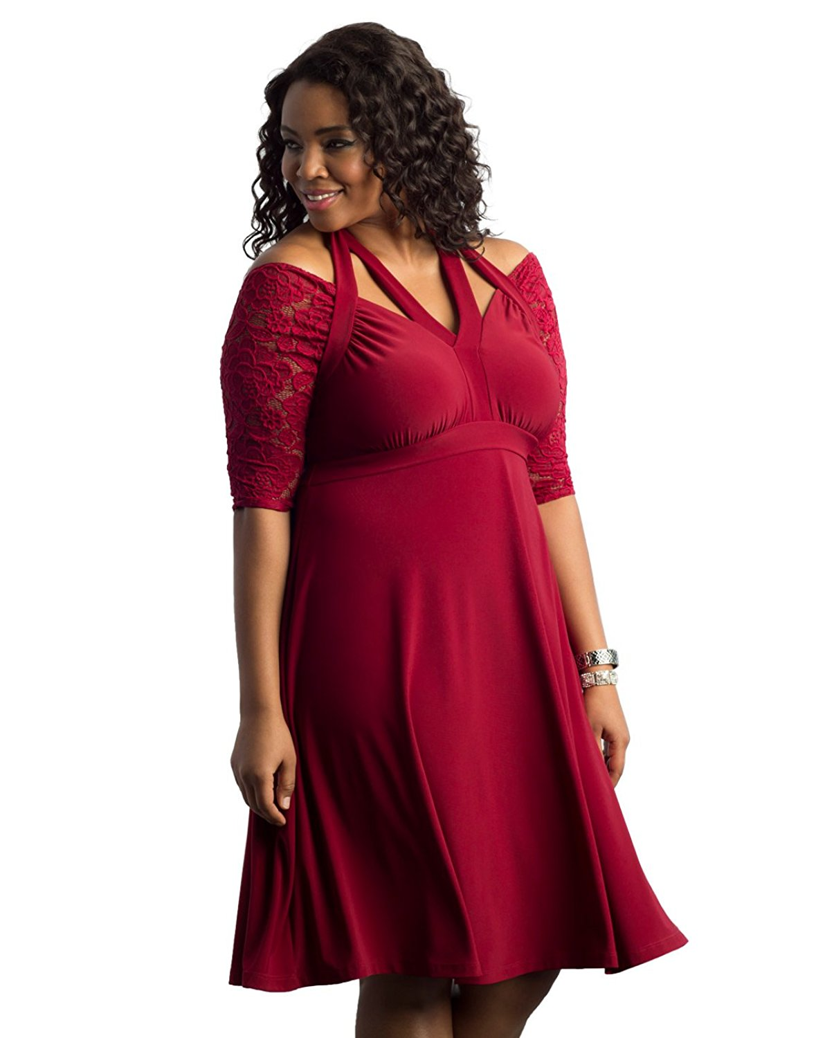 556f5d49584 Buy Kiyonna Womens Plus Size Astoria Lace Peplum Gown in Cheap Price ...
