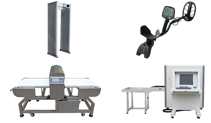 Industrial conveyor belt type metal detector