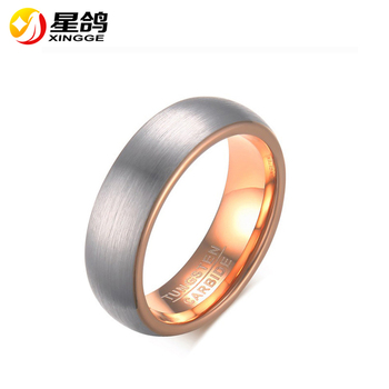 Whole Women Men S Tungsten Steel Carbide Ring Silver Rose Gold Plated Scrub For