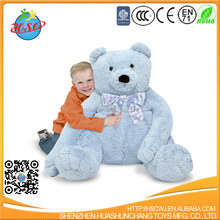 2017 hot sale cute lovely big size stuffed soft toy blue teddy bear of best birthday gift