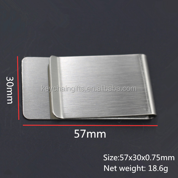 2016 Wholesale promotion metal money clips with customized logo