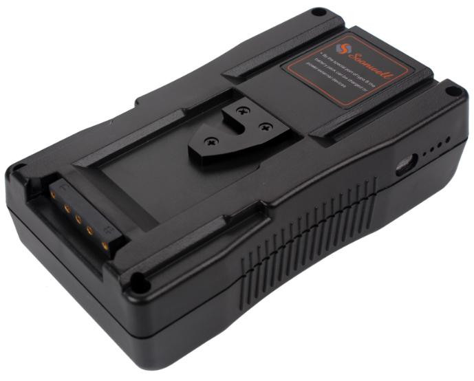 14.8V 6.6Ah 95Wh Rechargeable V-Lock Li-ion Broadcast Camera Battery Pack with DC Charger for DSLR Video Camera