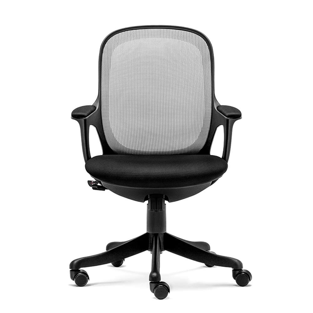 QFFL jiaozhengyi Swivel Chair,Home Computer Chair Study Chair Ergonomic Chair Office Chair Swivel Chair (Color : Black Gray)