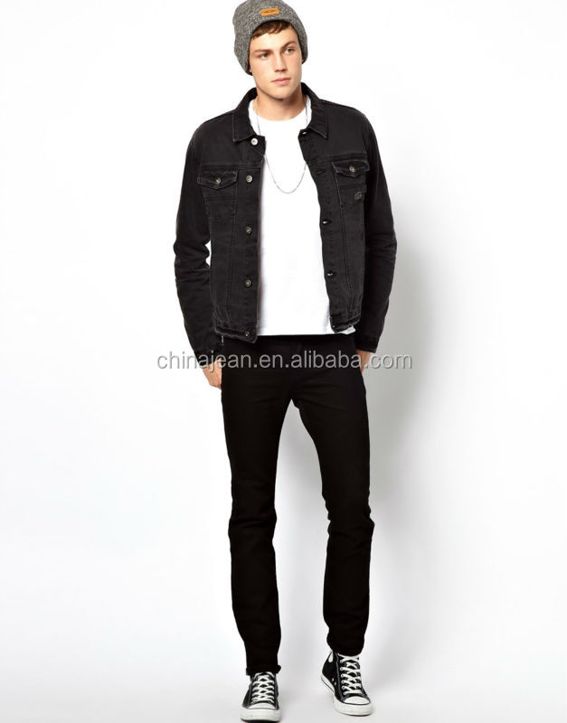 Wholesale Black Classic Style Denim Jacket For Men Jxf063 - Buy ...