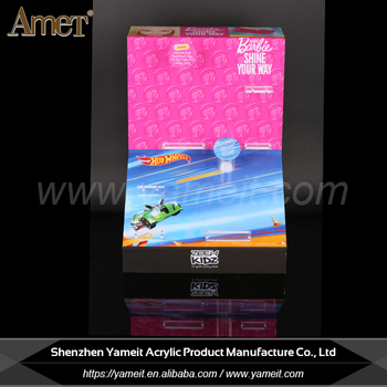 China supplier silk-screening logo acrylic LED display stand