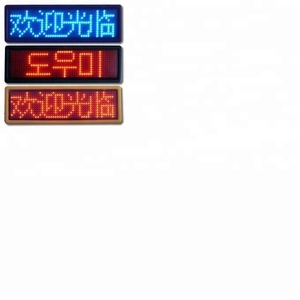 Low Price led name card tag 7X29pixels programmable led name badge