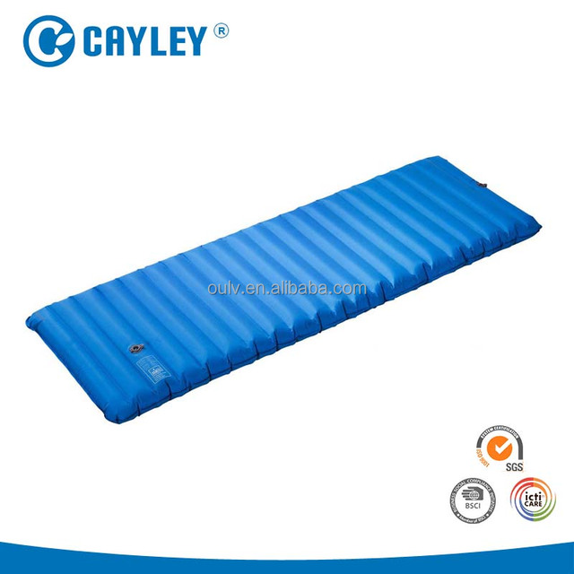 Outfitters sleeping Pad camping mat for Backpacking, Hiking. Fast Inflatable Air Design with Built in foot Pump.