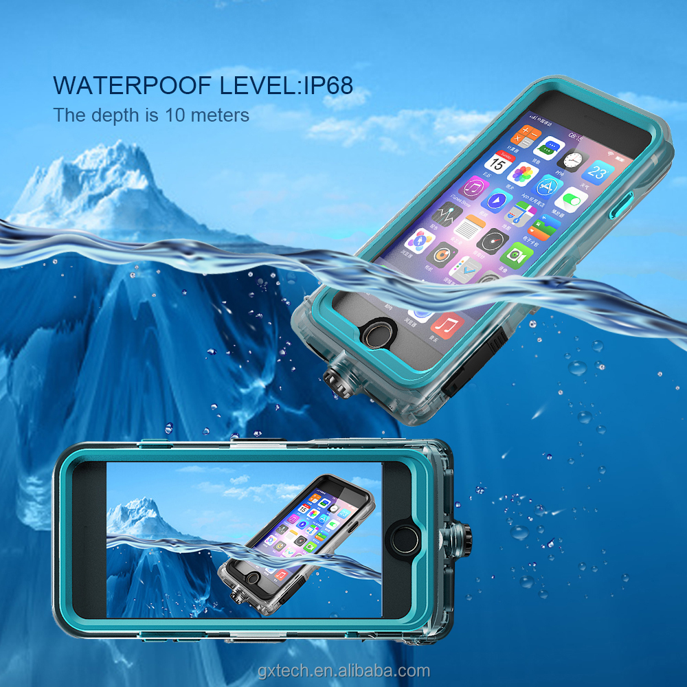 Outdoor Phone Case For IPhone 7 7 Plus, PC+TPE+Silicone Phone Case, IP68 Waterproof Phone Case