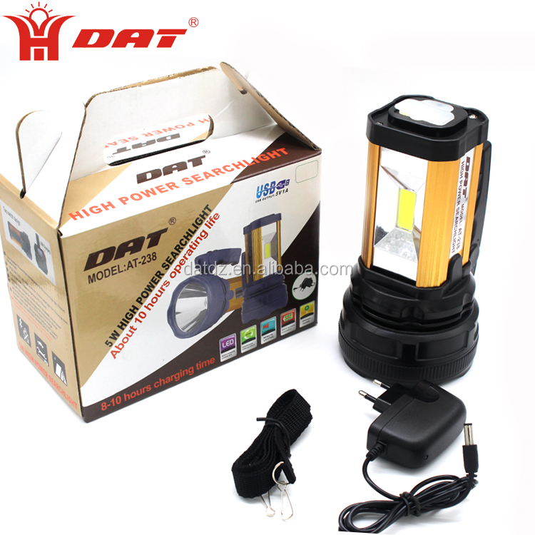 waterproof Aluminum Alloy torch Rechargeable Searchlight With Mobile charger