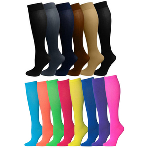 Wholesale 14 colors basketball football knee high sport socks with compress function