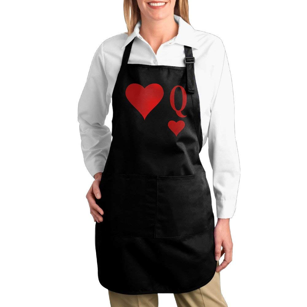 Hotel Server Cotton Apron For Women Heart Queen | Queen Of Hearts | Q Twill Cotton Barbecue Comfortable Adults Cotton Apron Bibs Cute Gifts