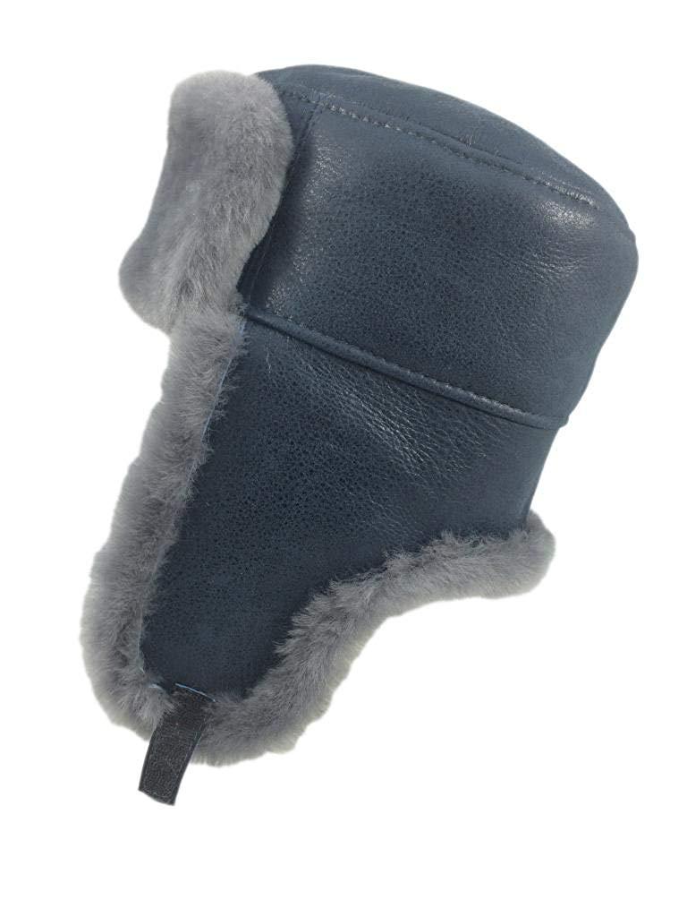 5ef66b26767c4 Get Quotations · Zavelio Women s Shearling Sheepskin Trooper Russian  Ushanka Fur Hat