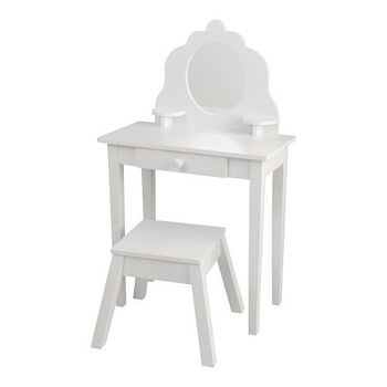 Girls White Dressing Table Wooden Stool Furniture Childrens Bedroom Storage  New - Buy Folding Table Storage,Hidden Storage Furniture,Knitting Storage  ...