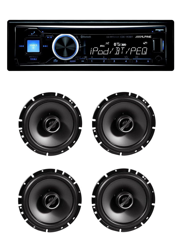 "Alpine CDE-143BT Advanced Bluetooth CD Receiver With Alpine SPS-610 6-1/2"" 2-Way Speaker System"