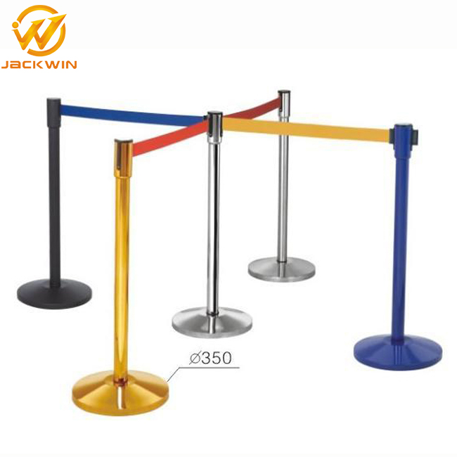 Bank Safety Belt Stanchion,Queue Pole Retractable Belt Barriers