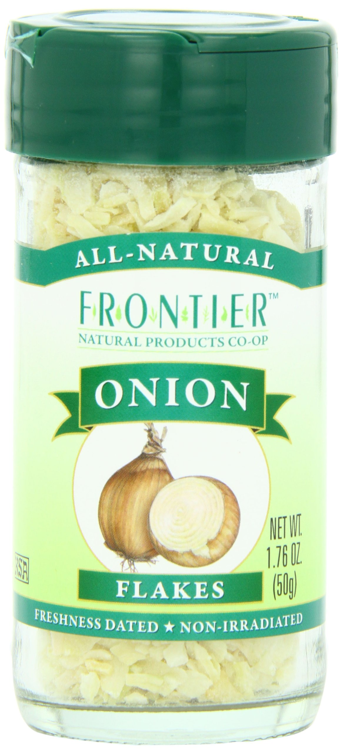 Frontier Natural Products Onion, White Flakes, 1.30-Ounce