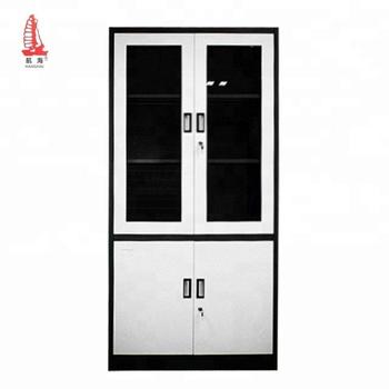 Factory Direct 4 Door Office Gl Iron Cupboard Design Metal Food Storage Cabinet
