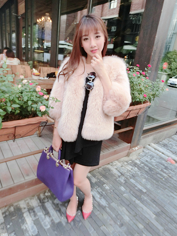 2017 New Style One Piece Fox Fur Coat/Wholesale And Retail