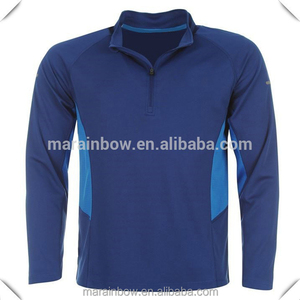 2f6b31322c03 custom made dry fit breathable Long sleeves 1 4 zip turtle neck t-shirts