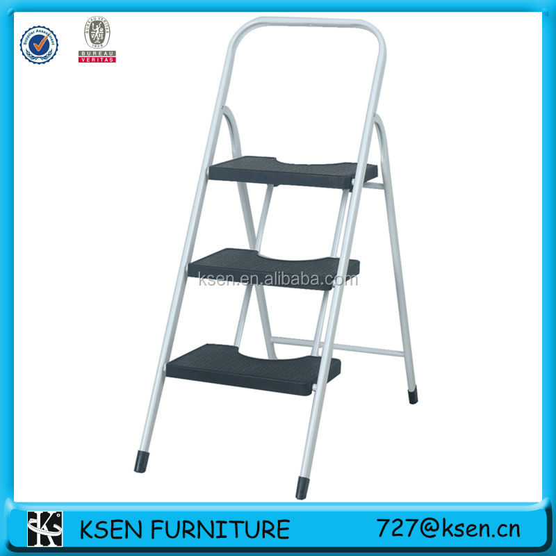 3-tier foldable aluminum step ladder