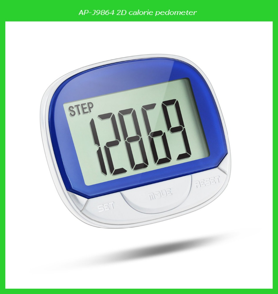 New arrival extra large LCD display pedometer with time and belt clip