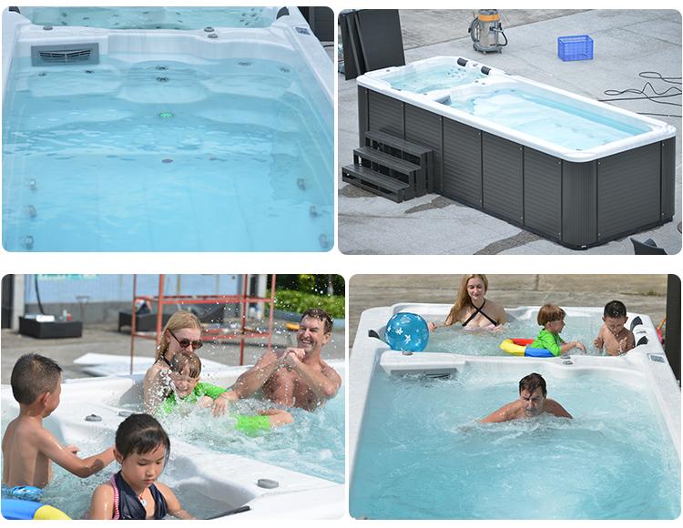 5810mm luxury rectangular freestanding balboa acrylic outdoor massage above ground swim spa pool. Black Bedroom Furniture Sets. Home Design Ideas