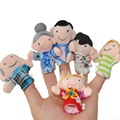 6 pcs set Baby Plush Toys Cartoon Animal Finger Hand Puppet Happy Family Fun Plush Toy