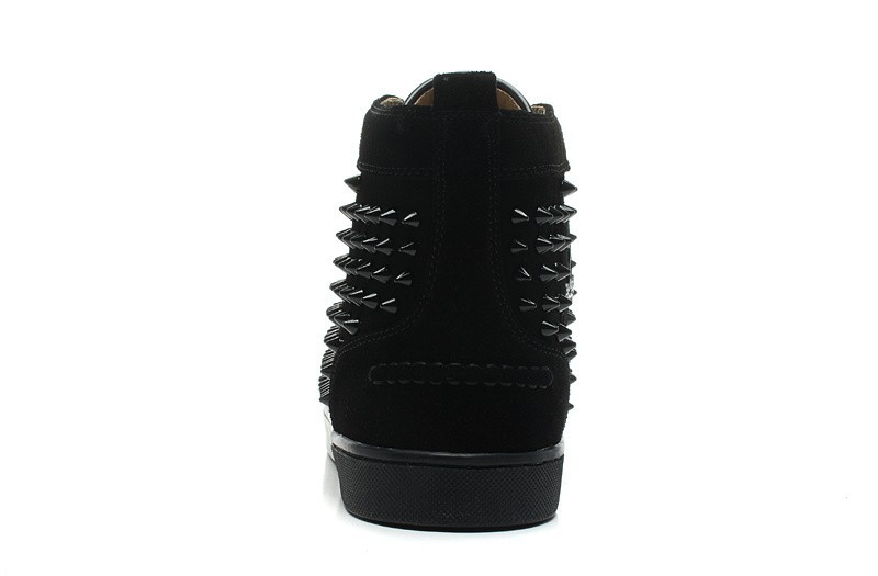 5e0788c02ca0  UBSn998T Size 36-46 Men Women Red Suede With Spikes Lace Up High Top Red  Bottom Sneakers